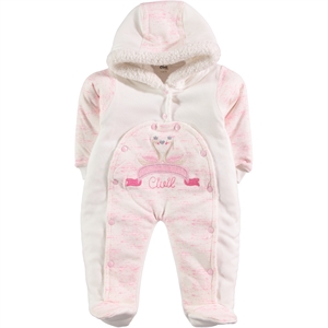 Civil Baby Oh Baby Booty Pink Baby Girl 6-12 Months Jumpsuit