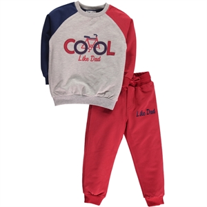 Cvl Boy Burgundy Sweat Suit 2-5 Years (1)