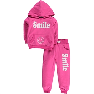 Cvl Cvk Girl Fuchsia Sweat Suit 2-5 Years