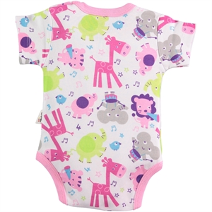 Civil Baby 0-24 Months Baby Pink Bodysuit With Snaps (2)