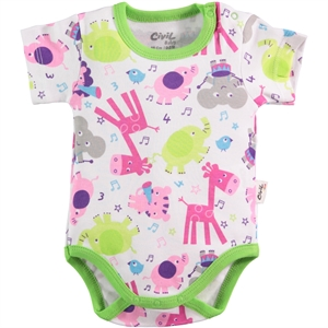 Civil Baby Yesil 0-24 Months Baby Bodysuit With Snaps (1)