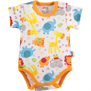 Civil Baby 0-24 Months Baby Bodysuit With Snaps Orange