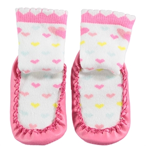 Civil Baby Ecru Sandals Sandals Socks Girl Socks 20-24 Number