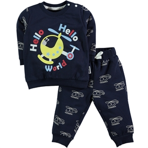 Kujju 6-18 Months Baby Boy Navy Blue Team