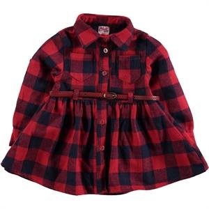 Civil Girls Kız Çocuk Elbise 6-9 Yaş Kırmızı