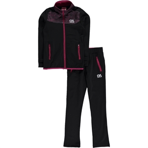 Civil Girls Black Sweat Suit Boy Girl Age 6-9