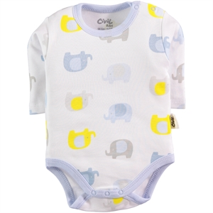 Civil Baby Baby 0-24 Months Blue Bodysuit With Snaps