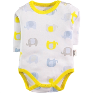 Civil Baby Baby 0-24 Months Yellow Bodysuit With Snaps