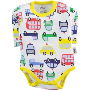 Civil Baby Baby Boy 0-24 Months Yellow Bodysuit With Snaps