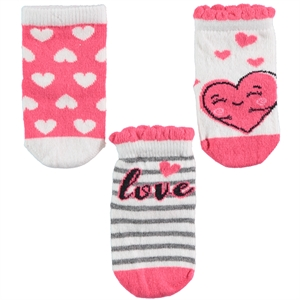 Katamino Chirping baby girl baby socks 3-set, 0-12 months, tongue in cheek (1)