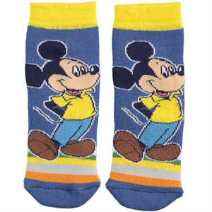 Mickey Mouse Yellow Boy Socks Ages 3-7