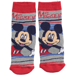 Mickey Mouse Red Boy Socks Ages 3-7