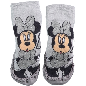 Minnie Mouse Girl Socks Sandals 18-24 Gray Number