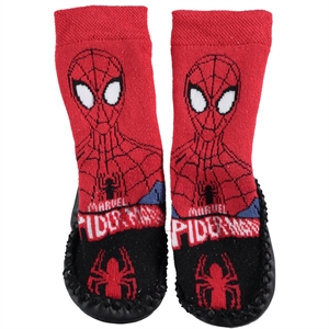 Spiderman Black Boy Socks Sandals 18-24 Numbers
