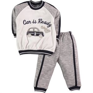 Civil Baby Baby Boy Suit, Gray, 6-12 Months