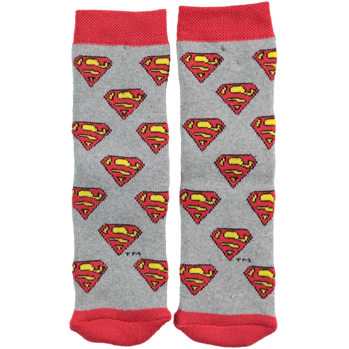 Superman Age 5-9 Boy Socks Gray