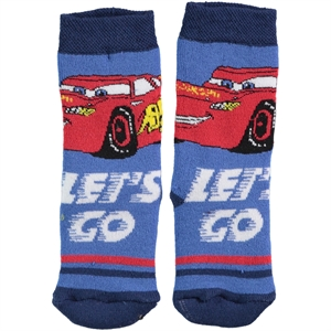 Cars Boy Socks Blue Saks The Ages Of 3-9 (1)