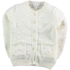 Civil Girls Girl's Cardigan Ecru 2-5 Years