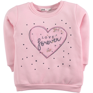 Civil Girls 2-5 Years Kids Girl Pink Sweatshirt