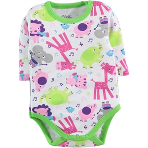 Civil Baby Yesil 0-24 Months Baby Bodysuit With Snaps