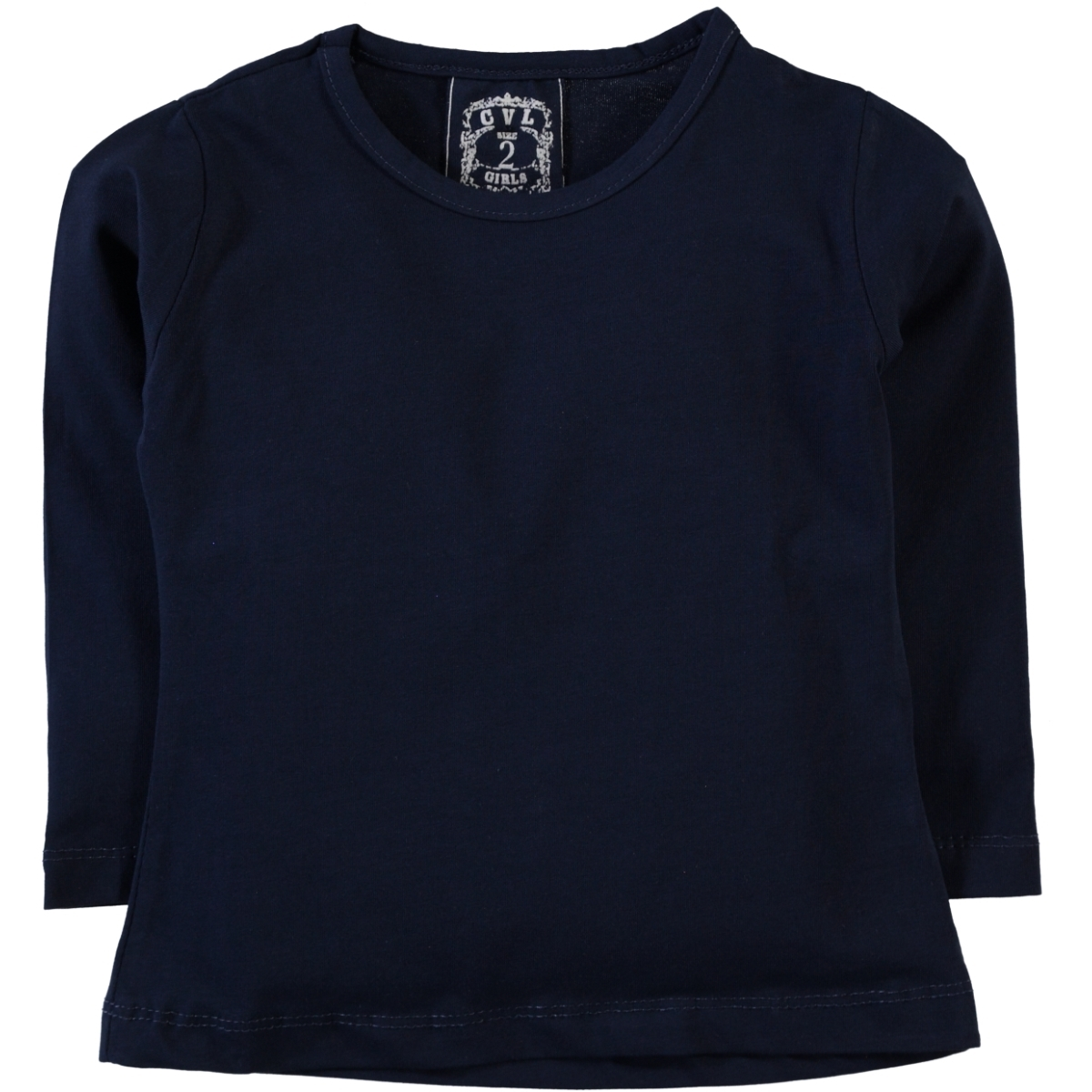Cvl Kids Age 6-9 Girl Sweatshirt Navy Blue