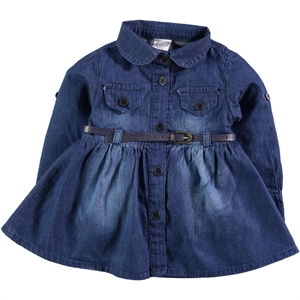 Civil Baby Baby Girl Dress Blue-6-18 Months