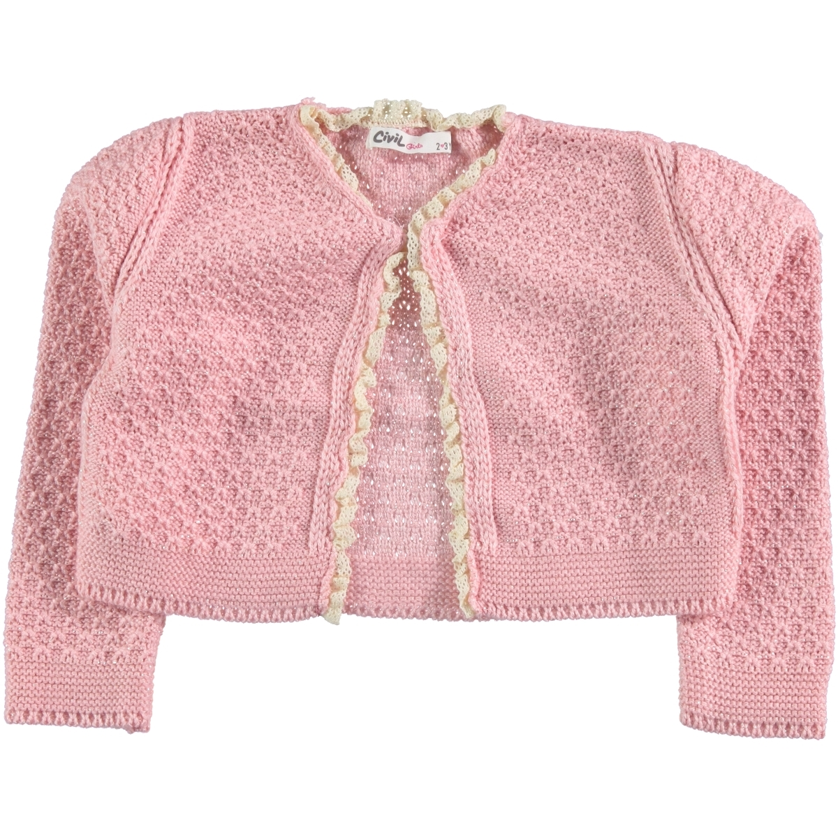 Civil Girls 2-5 Years Girls Pink Bolero