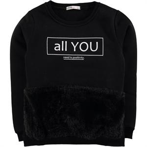 Civil Girls Girl Age 6-9 Black Kids Sweatshirt