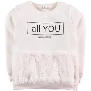Civil Girls Age 6-9 Girl Kids Sweatshirt Ecru
