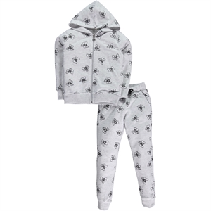 Civil Girls Gray Sweat Suit Boy Girl Age 6-9