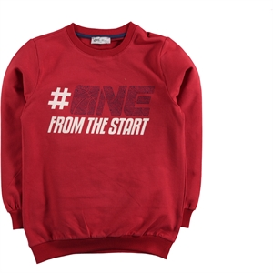 Cvl Age 6-9 Boy Sweatshirt Burgundy