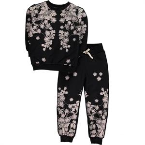 Cvl Black Sweat Suit Boy Girl Age 6-9