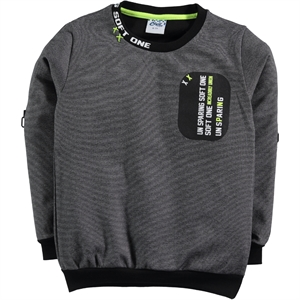 Civil Boys Sweatshirt Black Age 6-9 Boy