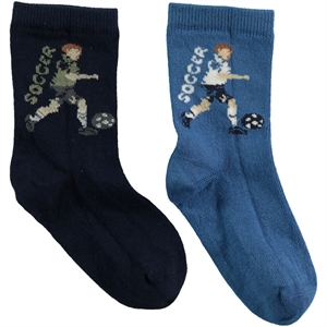 Step Boy 2-gang Socket Sock Blue Age 5-11