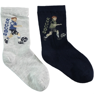 Step Boy 2-gang Socket Sock navy blue Age 5-11