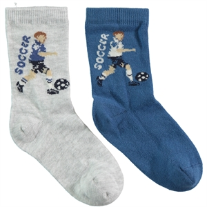 Step Boy 2-gang Socket Sock Gray Age 5-11