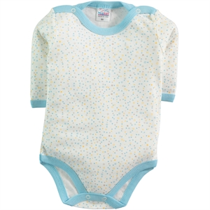 Misket Turquoise Baby Bodysuit With Snaps 1-18 Months