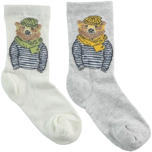 Step Boy 2-gang Socket Ecru Socks 5-11 Age