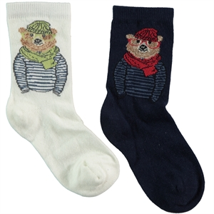 Step Boy 2-gang Socket navy blue Socks 5-11 Age
