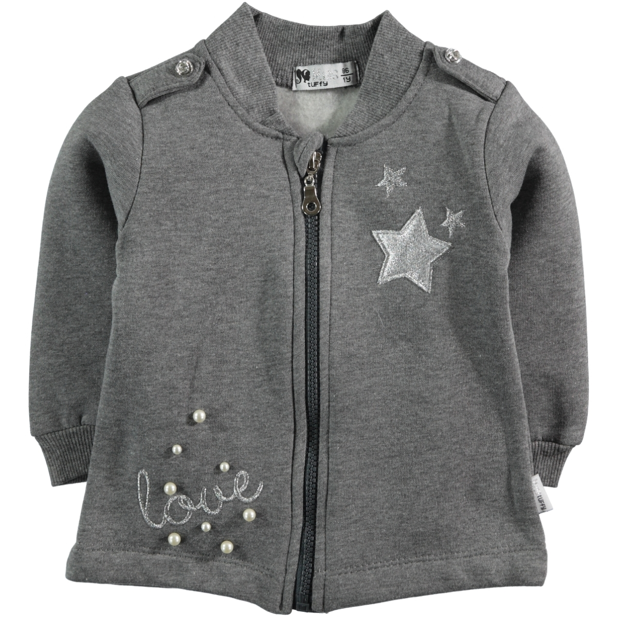 Miss Tuffy Age 1-4 Girl Cardigan Gray