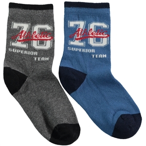 Step Boy 2-gang Socket Socks Indigo Age 5-11
