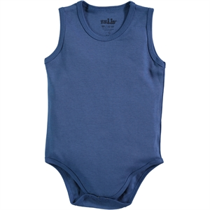 Kujju Combing 0-1 Month Bodysuit With Snaps Indigo