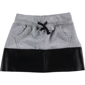 Civil Girls 2-5 Years Garnil Gray Leather Skirt