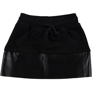 Civil Girls 2-5 Years Garnil Black Leather Skirt
