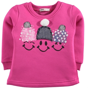 Civil Girls Age 2-5 Kids Girl Sweatshirt Fuchsia