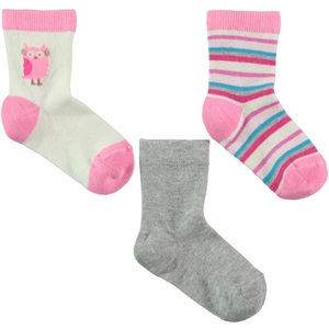 Civil Girl 3-way Socket Sock Pink, 3-11 years