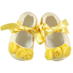 First Step Baby Girl Booties With Yellow Number 17-19 (1)