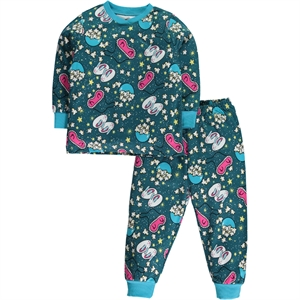 Cvl Girl In A Pajama Outfit Turquoise 2-5 Years