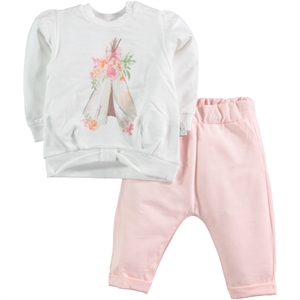 T.F.Taffy Powder Pink Taffy Baby Girl 3-12 Months F. T. Team