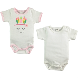 Civil Baby 2 baby girl-0-12 months Pink Bodysuit with snaps
